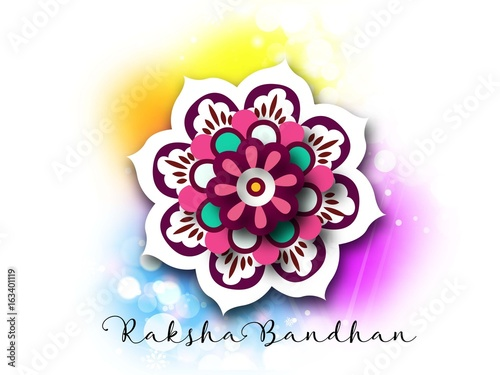 Valokuva  calligraphic greeting on auspicious occasion of raksha bandhan or rakhi with bri