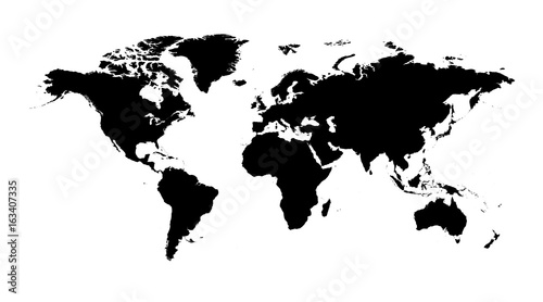Blank black world map on isolated white background world map vector blank black world map on isolated white background world map vector template for website gumiabroncs Images