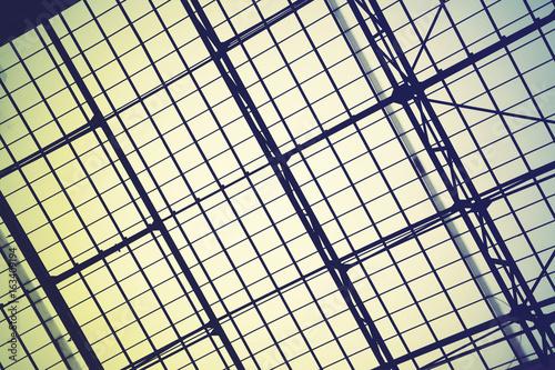 Staande foto Industrial geb. Lattice frame of skylight window