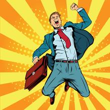 Business Man The Winner Pop Ar...