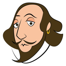 Isolated Shakespeare Character