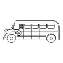 Isolated School Bus