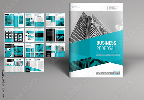 teal business proposal booklet layout buy this stock template and