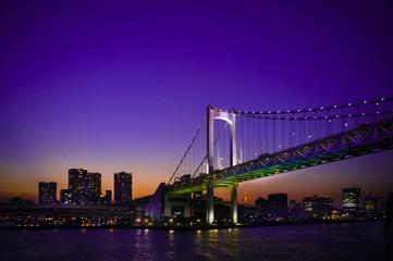 Fototapeta na wymiar Purple sky