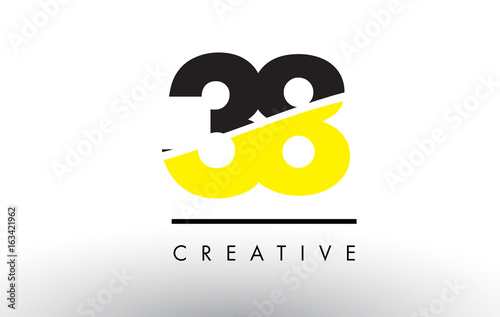 Papel de parede  38 Black and Yellow Number Logo Design.