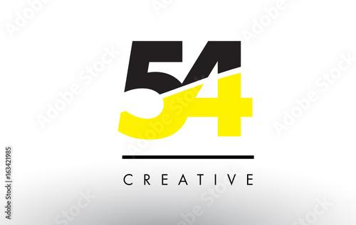 Papel de parede  54 Black and Yellow Number Logo Design.