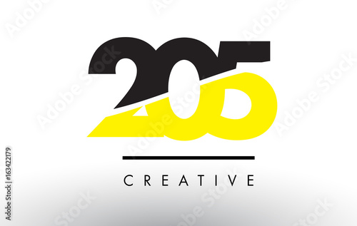 Fotografija  205 Black and Yellow Number Logo Design.