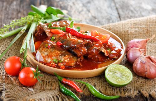 spicy sardine with herb