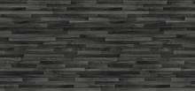 Black Wood Parquet Texture. Background Old Panels