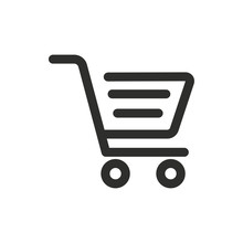 Shopping Basket Vector Icon.