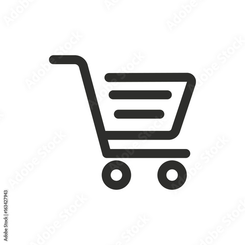 Fotomural  Shopping basket vector icon.