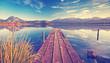 canvas print picture - Meditation - Stille und Ruhe am See