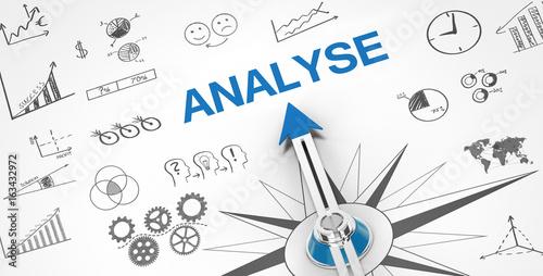 Analyse / Kompass Canvas Print