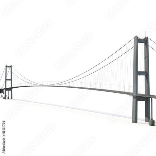 Fotografia  Bosphorus Bridge on white. 3D illustration