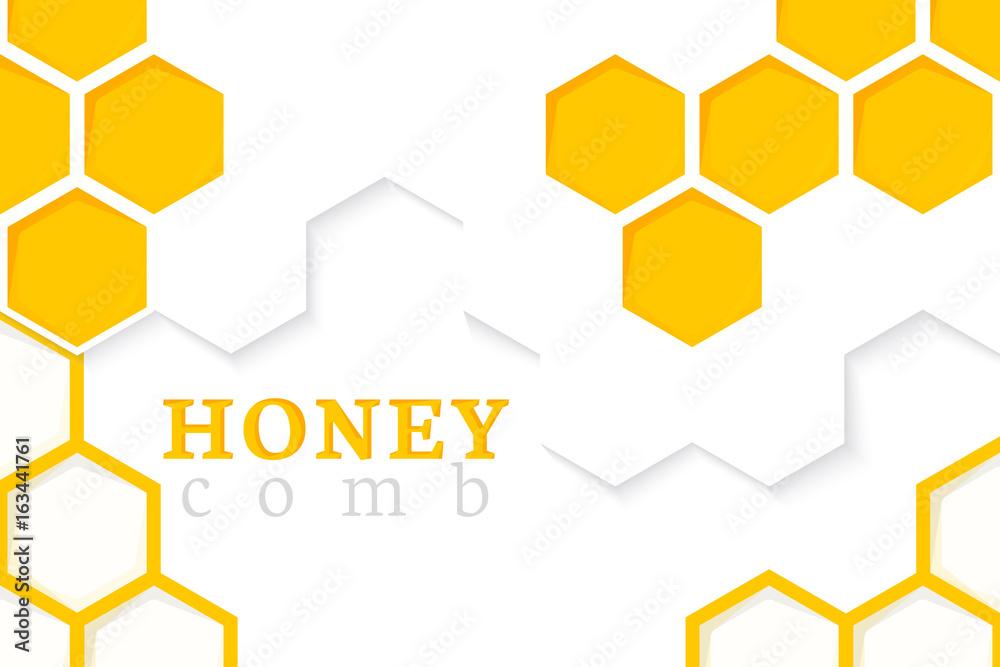 Fototapety, obrazy: Honeycomb Background. Vector Illustration of Geometric Hexagons Background
