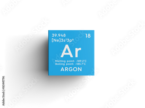 Argon Canvas Print