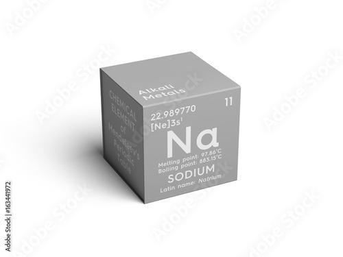 Sodium Natrium Alkali Metals Chemical Element Of Mendeleevs