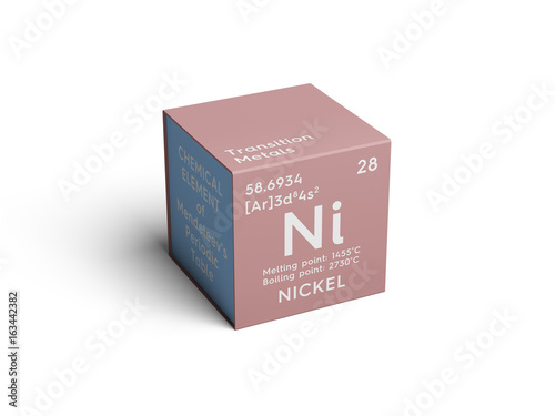 Nickel transition metals chemical element of mendeleevs periodic nickel transition metals chemical element of mendeleevs periodic table nickel in square cube urtaz Choice Image