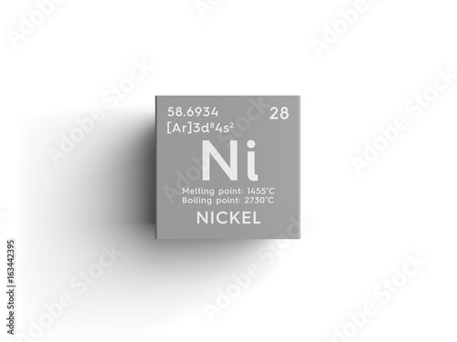 Nickel transition metals chemical element of mendeleevs periodic nickel transition metals chemical element of mendeleevs periodic table nickel in square cube urtaz Image collections