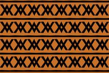 Brown Cris Cross Tribal Pattern