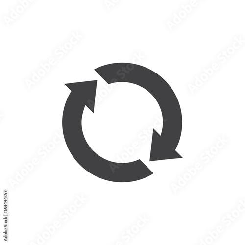 Fotografie, Obraz Update icon in black on a white background. Vector illustration