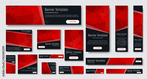 Fotografie, Obraz  design of black banners of standard size