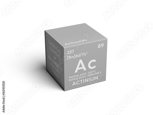 Actinium Canvas Print