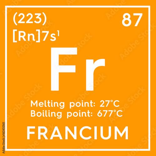 Francium Alkali Metals Chemical Element Of Mendeleevs Periodic
