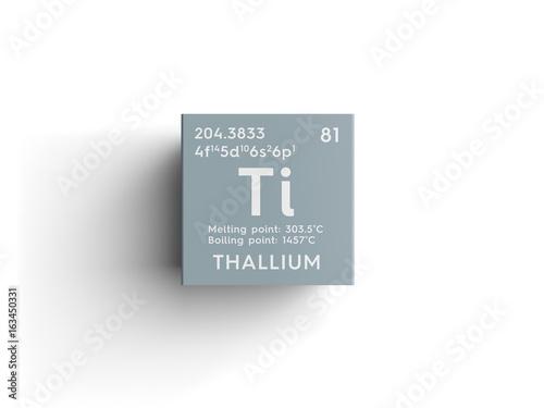 Thallium Post Transition Metals Chemical Element Of Mendeleevs