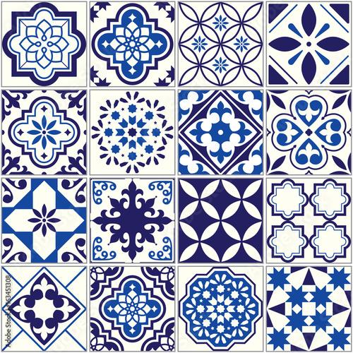 vector-tile-pattern-lisbon-floral-mosaic-mediterranean-seamless-navy-blue-ornament