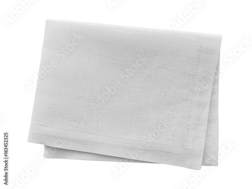 White napkin isolated on white