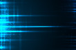 Glow light motion vector abstract blue background.