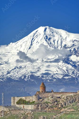 Ararat with khor Virap monastery in Armenia Canvas Print