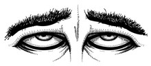 Cartoon Image Of Tired Eyes. A...