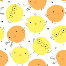 Seamless Bird Pattern Vector I...