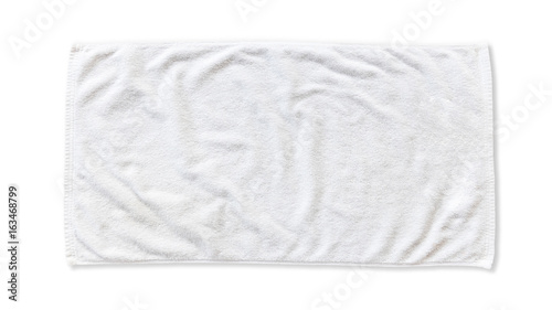Fotografering White beach towel mock up isolated with clipping path on white background, flat