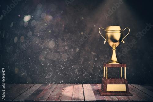 Golden winner's cup victory concept Fototapet