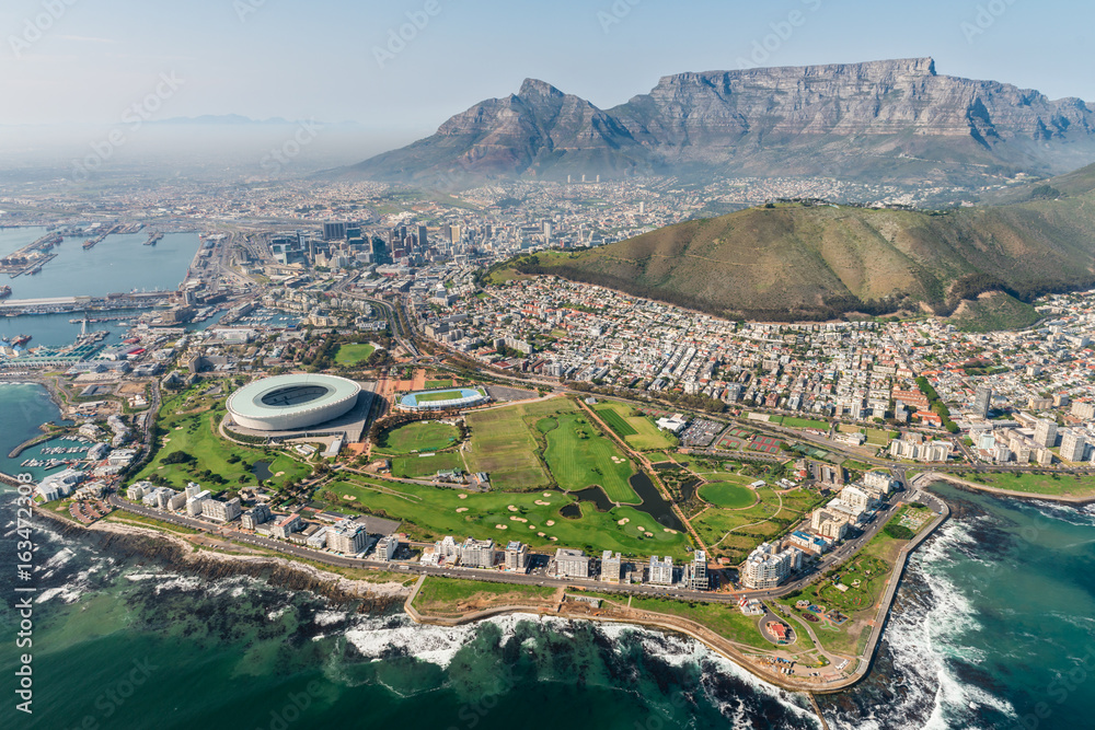 Fototapety, obrazy: Cape Town, South Africa (aerial view)