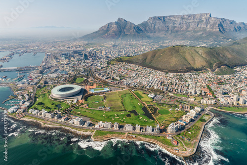 Obraz Cape Town, South Africa (aerial view) - fototapety do salonu