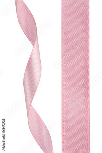 Fotografia Twisted pink ribbon on white