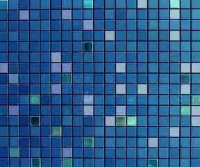Panel SzklanyTexture of blue glossy mosaic tile
