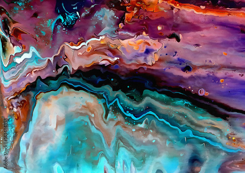 Acrylic Pouring 04, Acrylfarbe auf Leinwand Wallpaper Mural