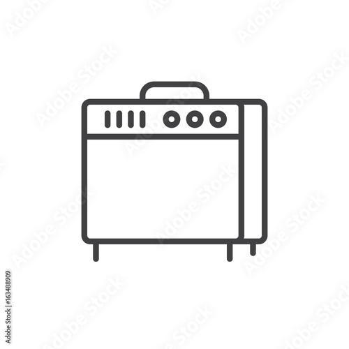 Photo Instrument amplifier line icon, outline vector sign, linear style pictogram isolated on white