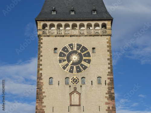 Fotobehang Artistiek mon. Speyer, Germany. The Old Gate (in German Altpoertel) is the medieval city gate. It is one of the original 68 towers in the old walls and gates of the city.