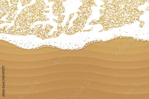 Fotografia Soft wave on the beach, vector background