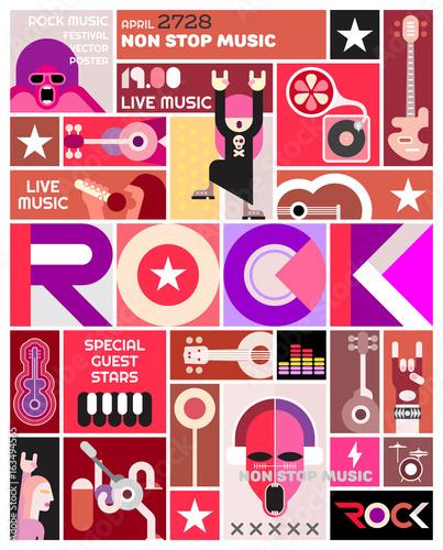Staande foto Abstractie Art Rock Concert poster template design