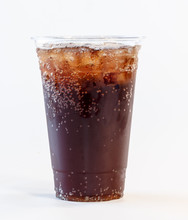 Soda In Clear Plastic Cup