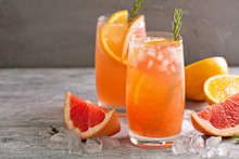 Citrus Cocktail With Grapefrui...