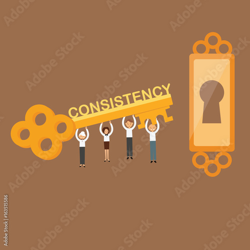 consistency is the key concept of team work on achieving the goals success