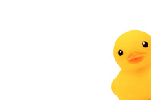 Yellow Duck Toys Over White Ba...